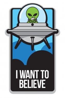 Cartoon Alien Poster
