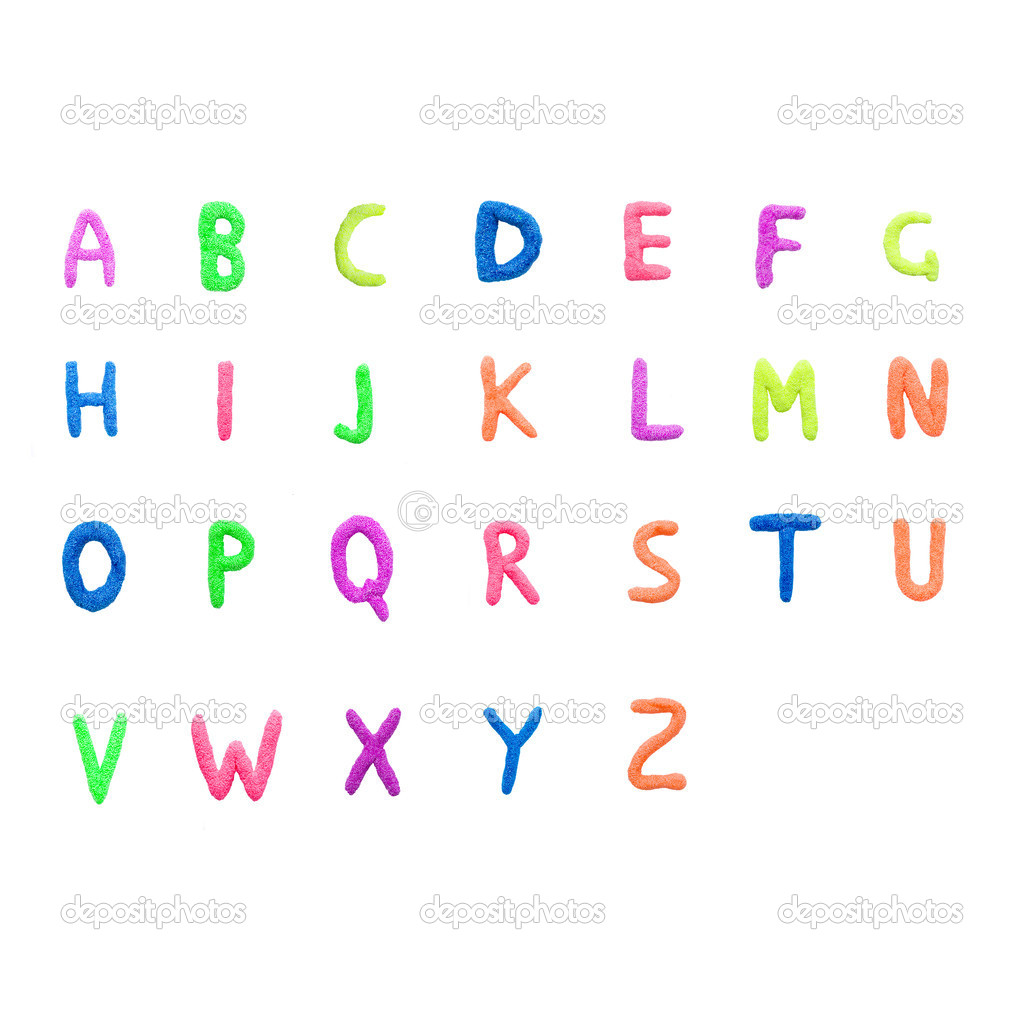 Colorful english alphabet stock photo c vitalinka 10142500 for Alphabet photo letters