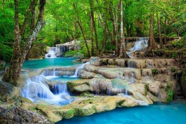 """Картина, постер, плакат, фотообои """"водопад эраван, канчанабури, таиланд визитки"""", артикул 9939856"""