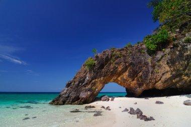 Ko Khai nature stone arch,Lipe,Thailand