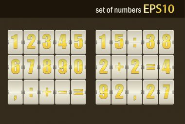 Number set from 1 to 9