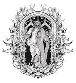 Fotografia gotico design t-shirt