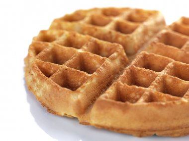 A close up of a waffle