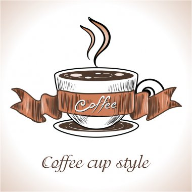 Coffee cup stylish shape