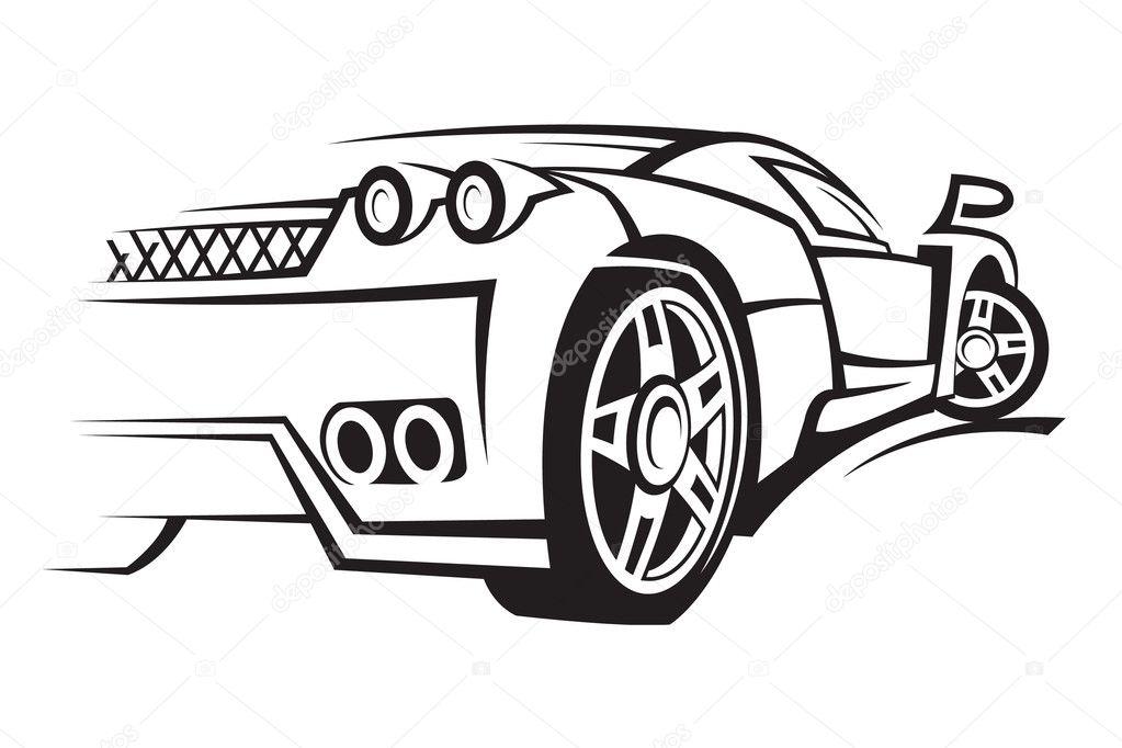 Bir Araba çizimi Stok Vektör Alexkava 10041677
