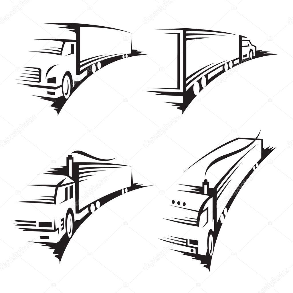 Set of trucks