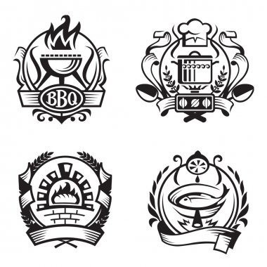 Set of different cooking banners
