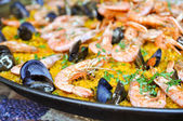 Fotografie Spanish Paella Close Up