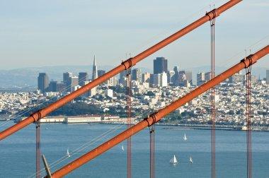Golden Gate Bridge with San Francisco in Background