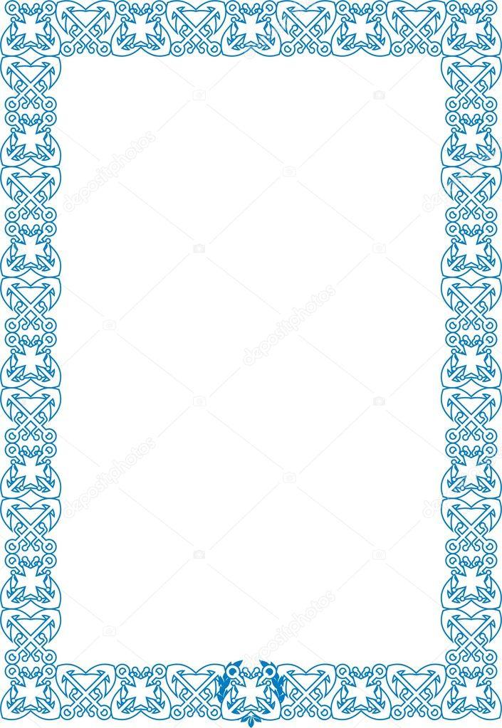marco de estilo marinero — Archivo Imágenes Vectoriales © bv55 #10482061