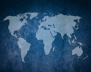 Abstract background. Map of the world.
