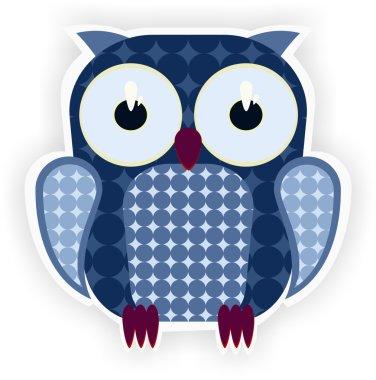 Cartoon blue owl.