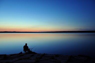 Night fishing on the lake