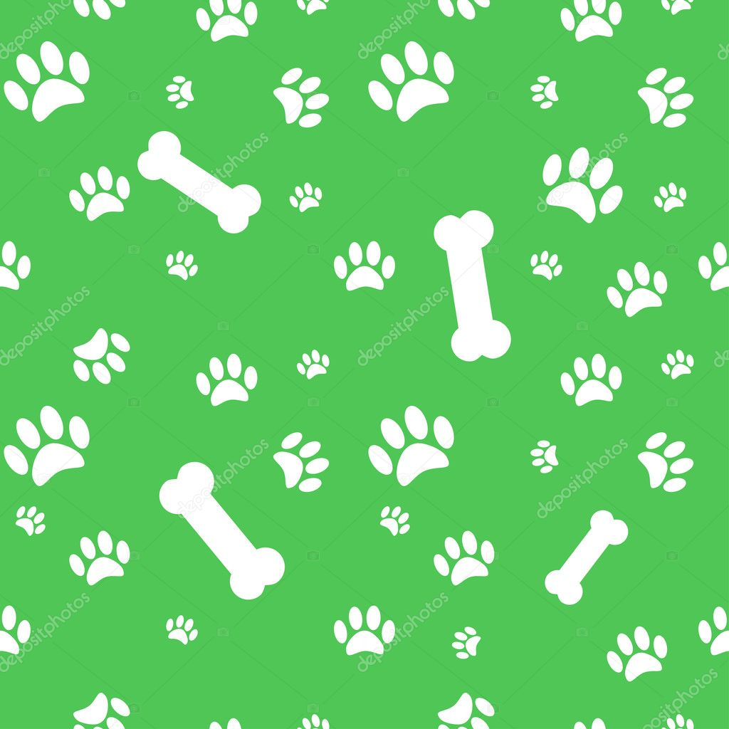 20546ce618be Background with dog paw print and bone — Stock Vector © darafeja ...