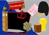vektorové ilustrace z atrakcí města Londýn