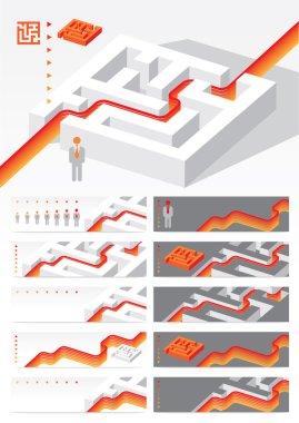 Business concept Maze