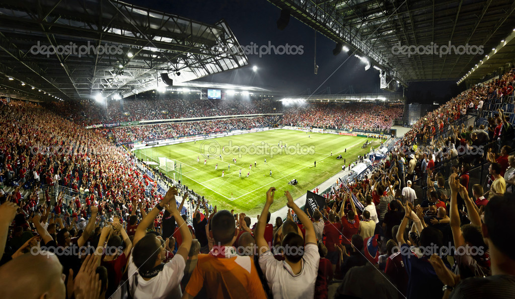 Football. Wisla Krakow soccer stadium