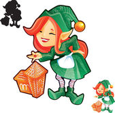 Fotografie Elf dívka s perníkem hrad
