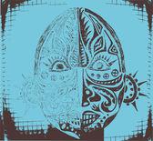 Photo Grunge african mask