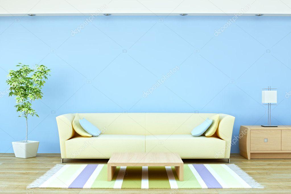 int rieur avec canap plante et lampe photographie toncsi47 10340301. Black Bedroom Furniture Sets. Home Design Ideas