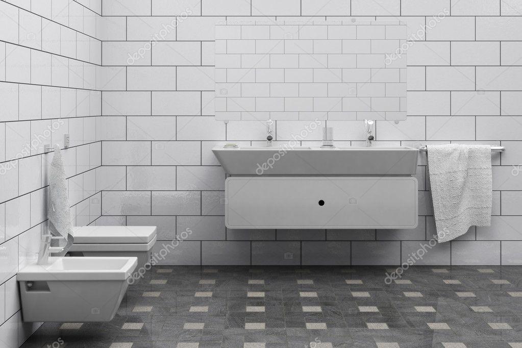 Goedkope Design Badkamer : Goedkoop eenvoudig badkamer interieur u stockfoto toncsi