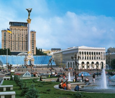 Independence Square in Kiev, Ukraine