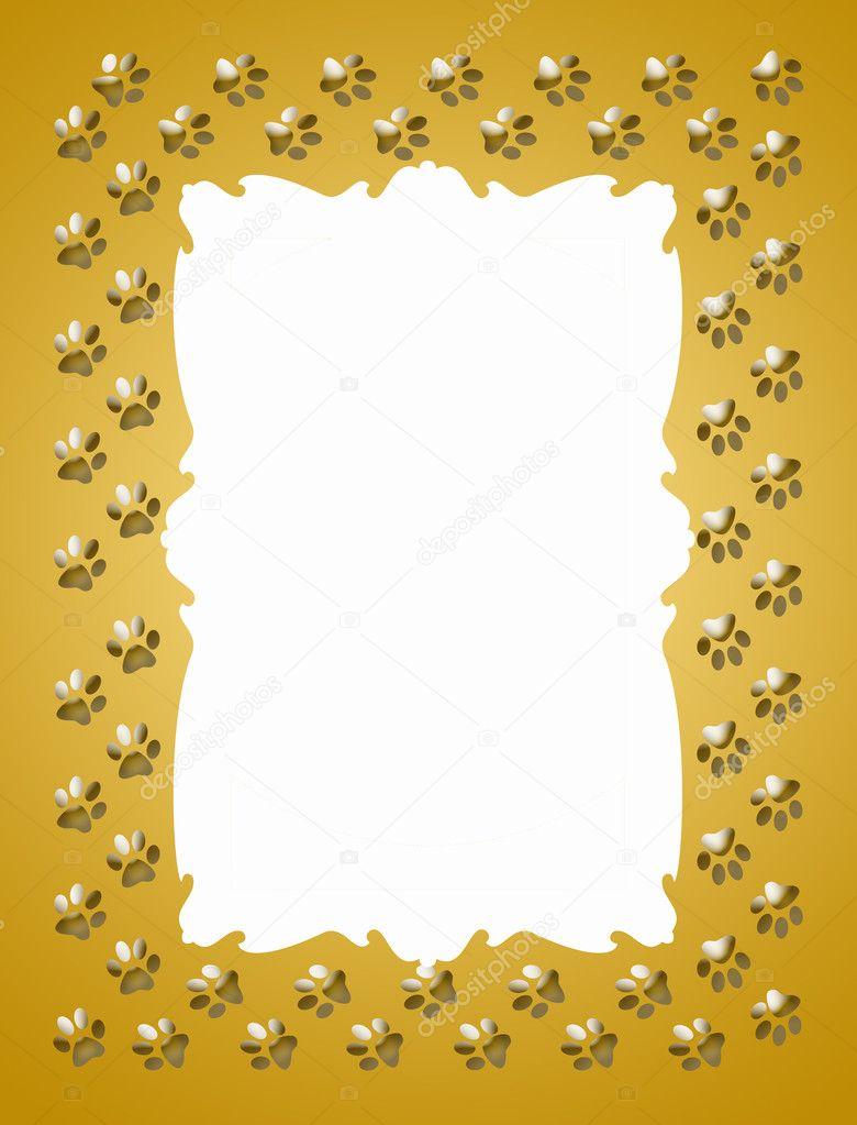 Paw print frame — Stock Photo © martinased #10114676