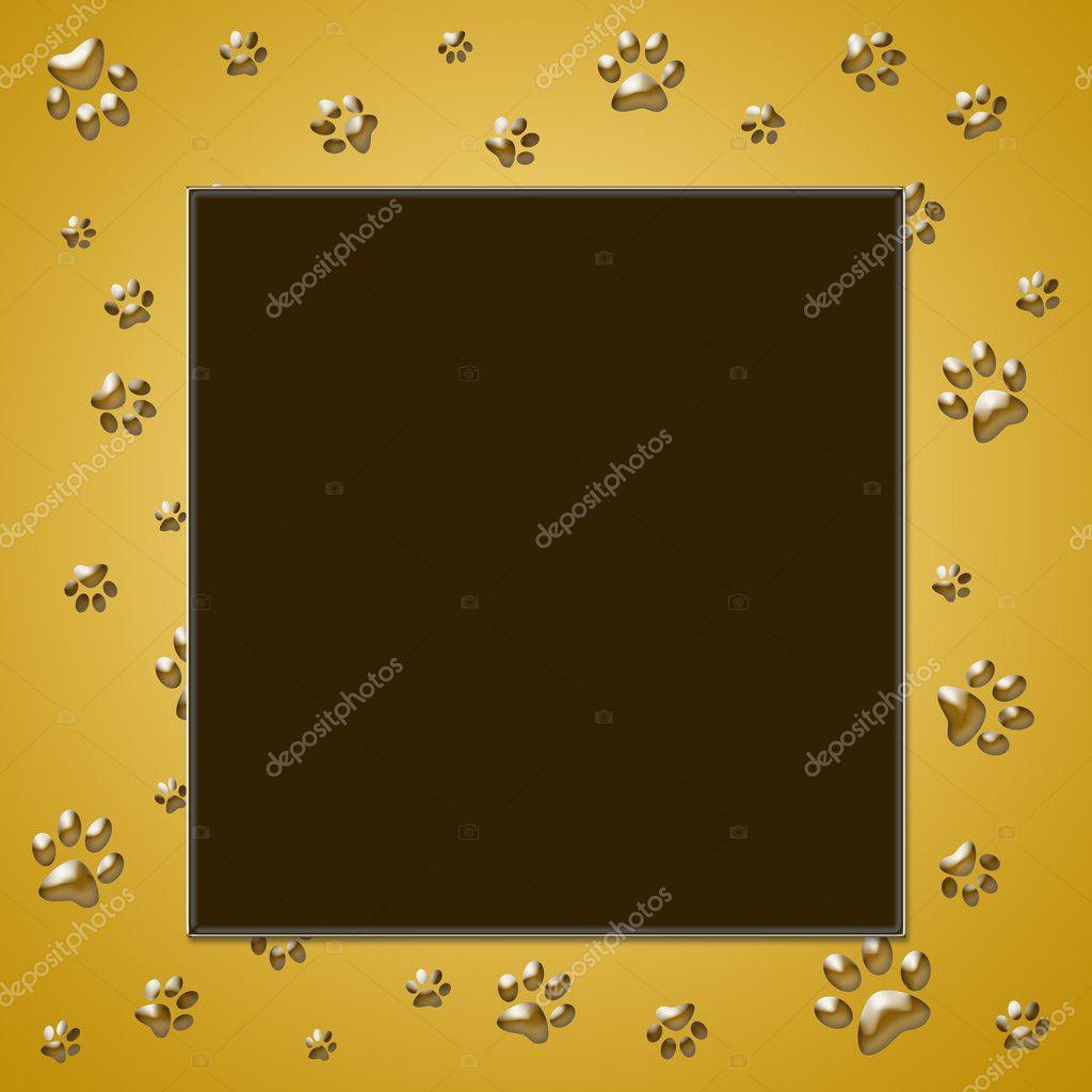 marco impresión pata — Foto de stock © martinased #10114686