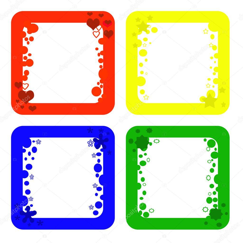 Marcos de colores — Fotos de Stock © martinased #10202559