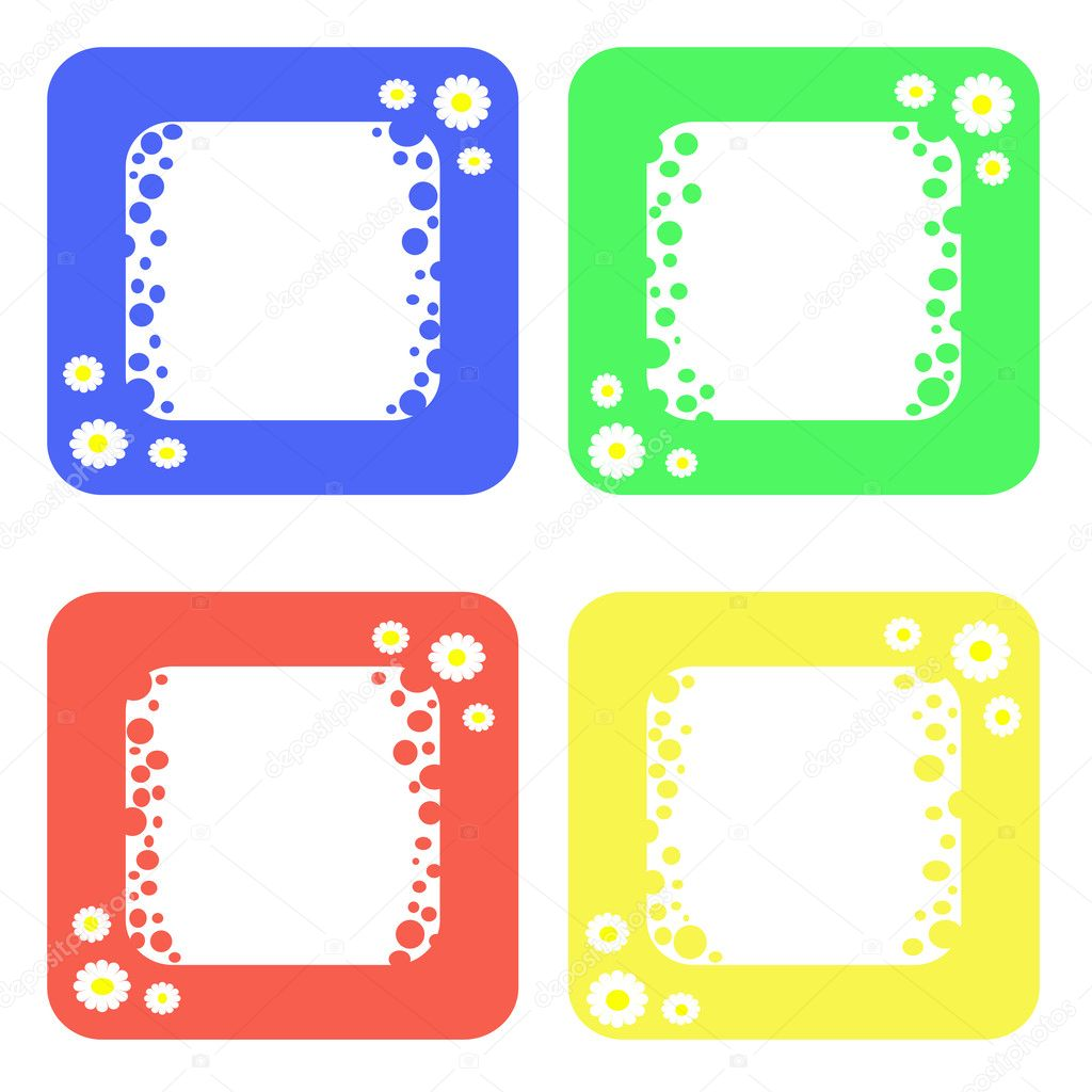 colored frames stock image