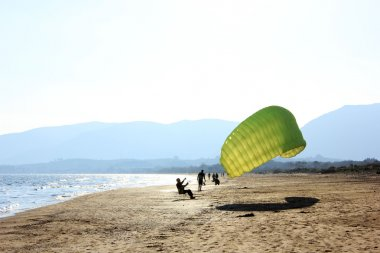 Learning how to do paragliding, Greece