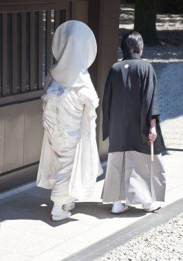Celebration of a traditional Japanese wedding