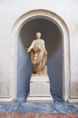 Roman statue in the Vatican Museums in Rome