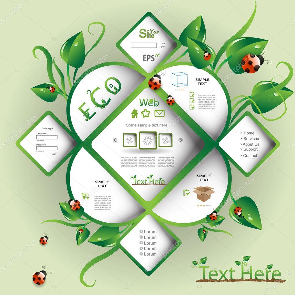 Nature modern webdesign