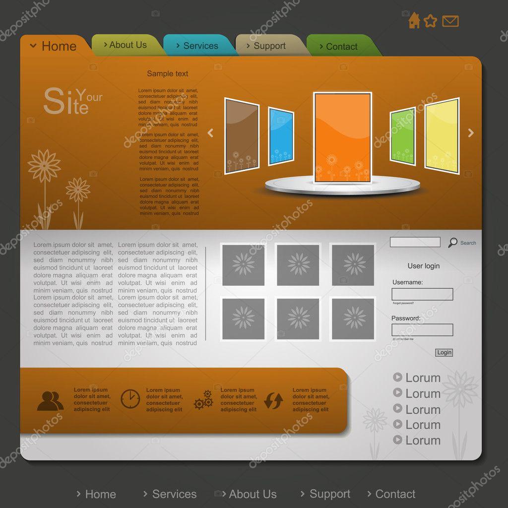 Nature orange web design