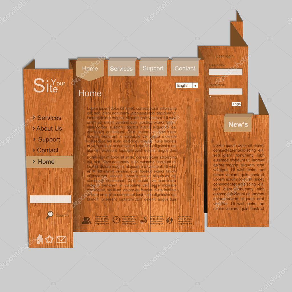 Wood texture web