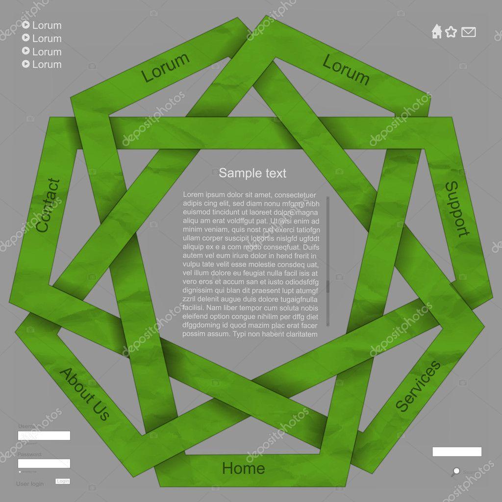 Green origmai paper