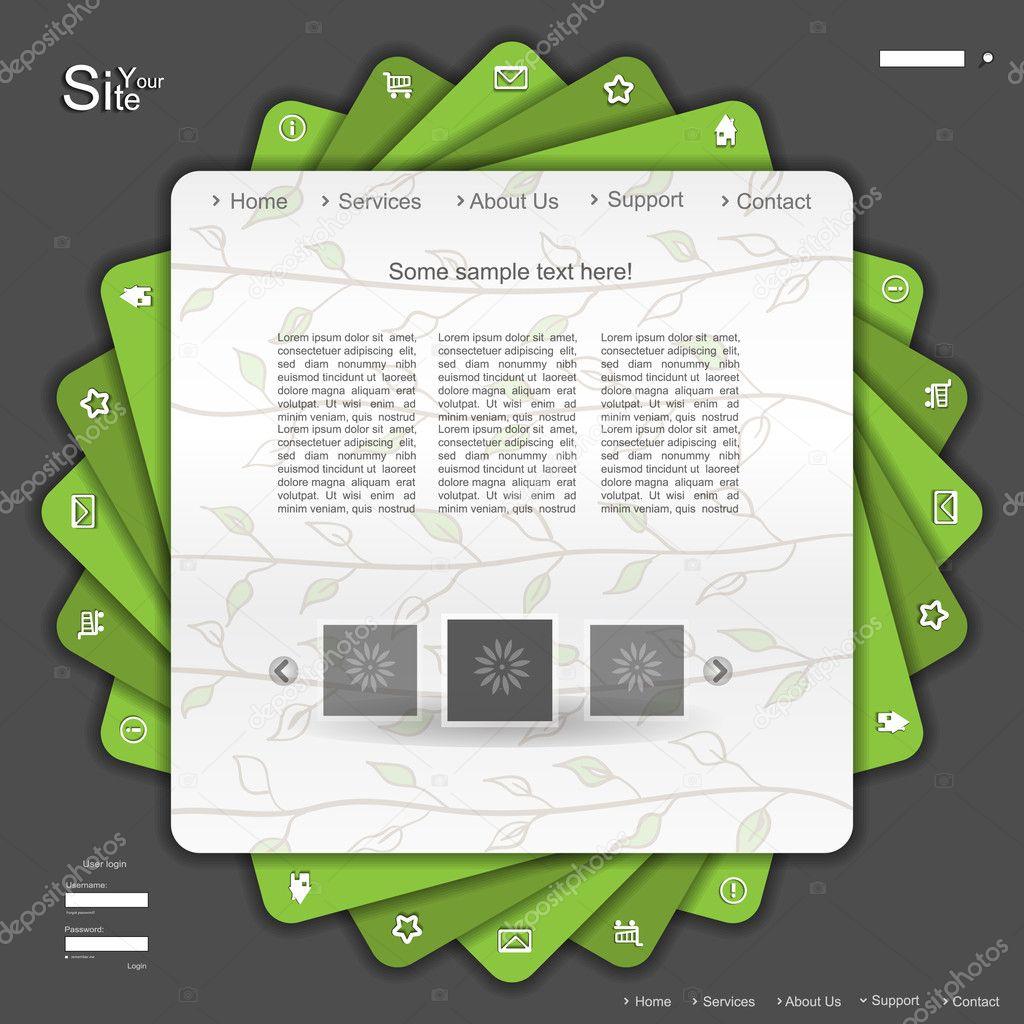Green naure eco web