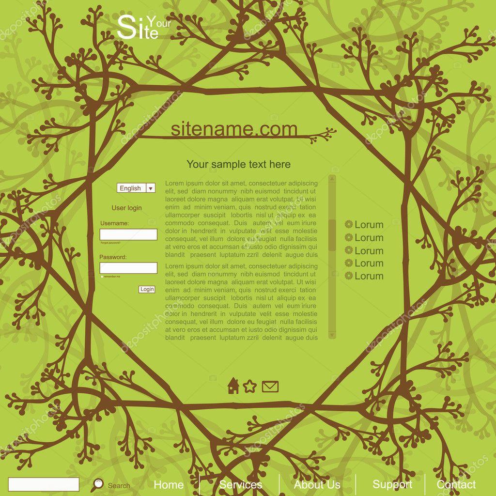 Green nature creative blog