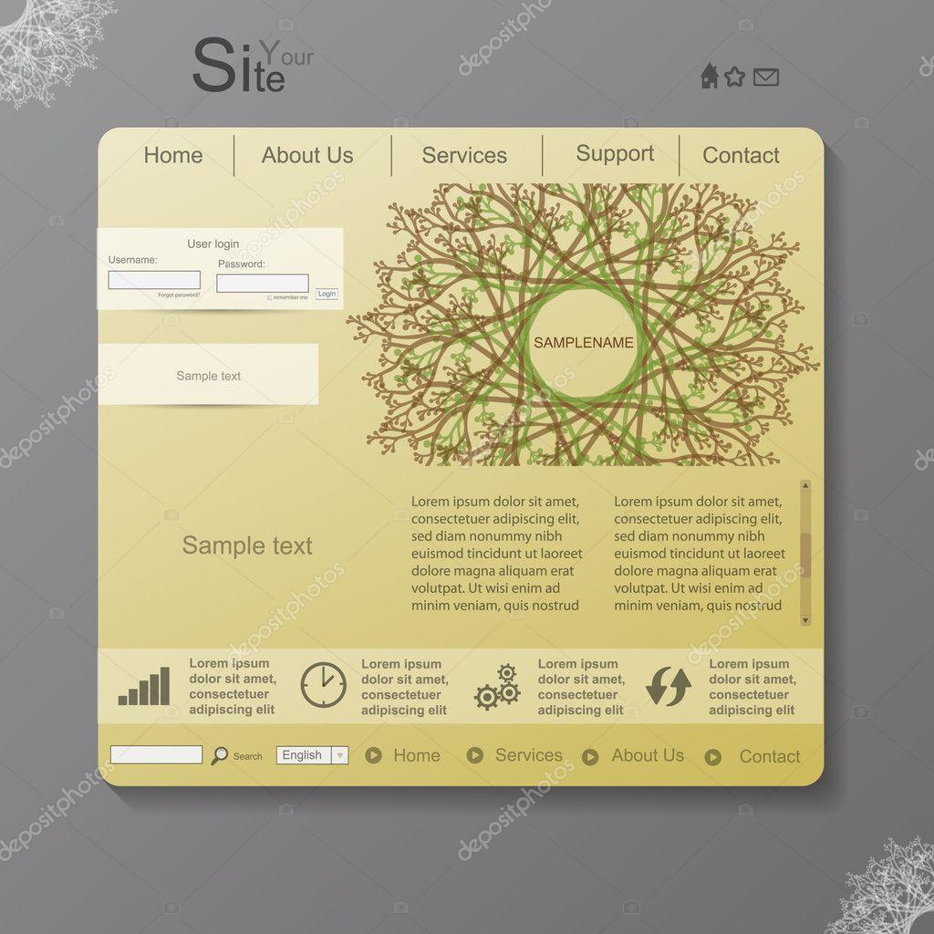 Nature vector web design