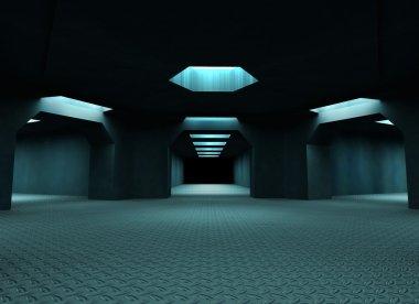 Dark mysterious tunnels.