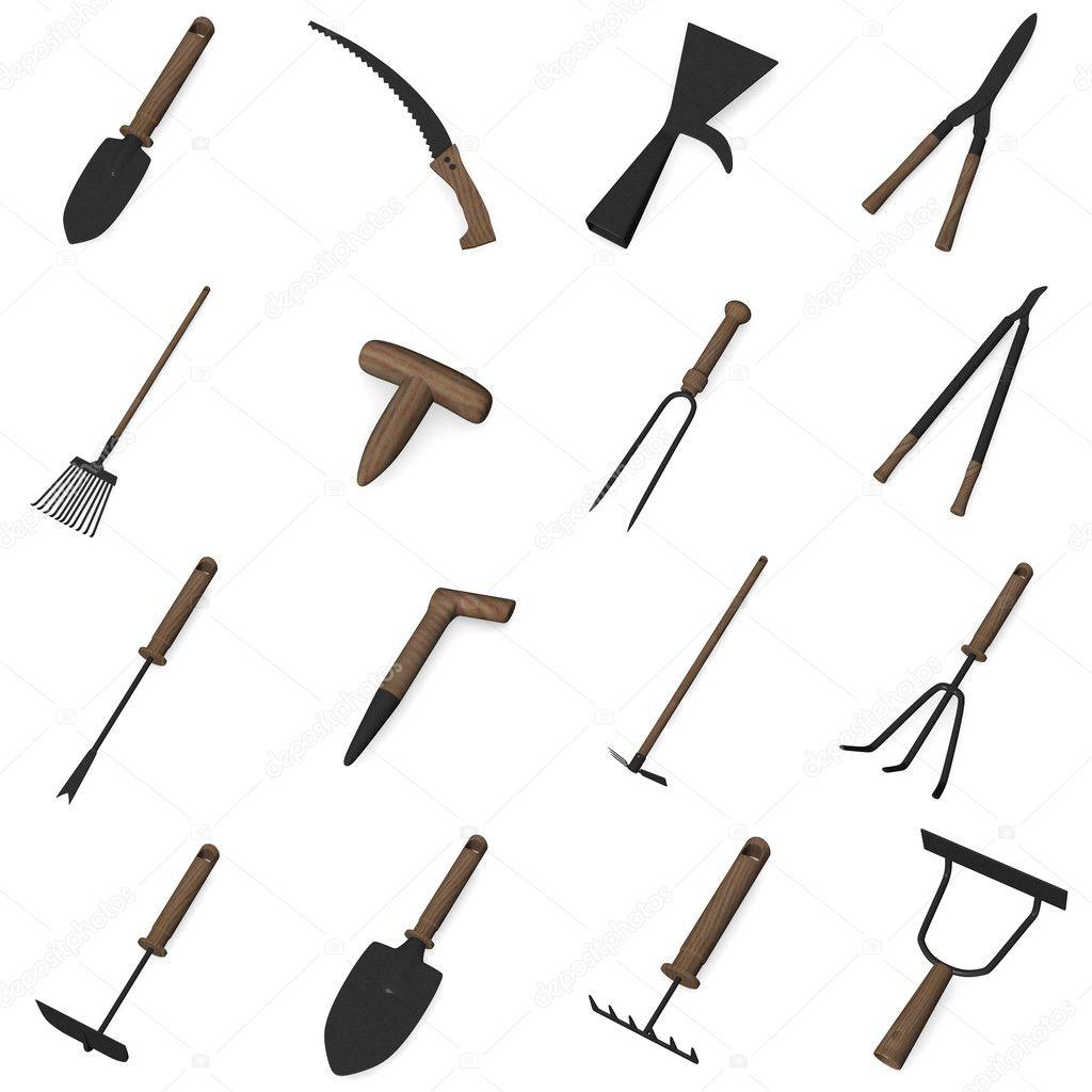 Garten Werkzeug Stockfoto 3drenderings 10075239