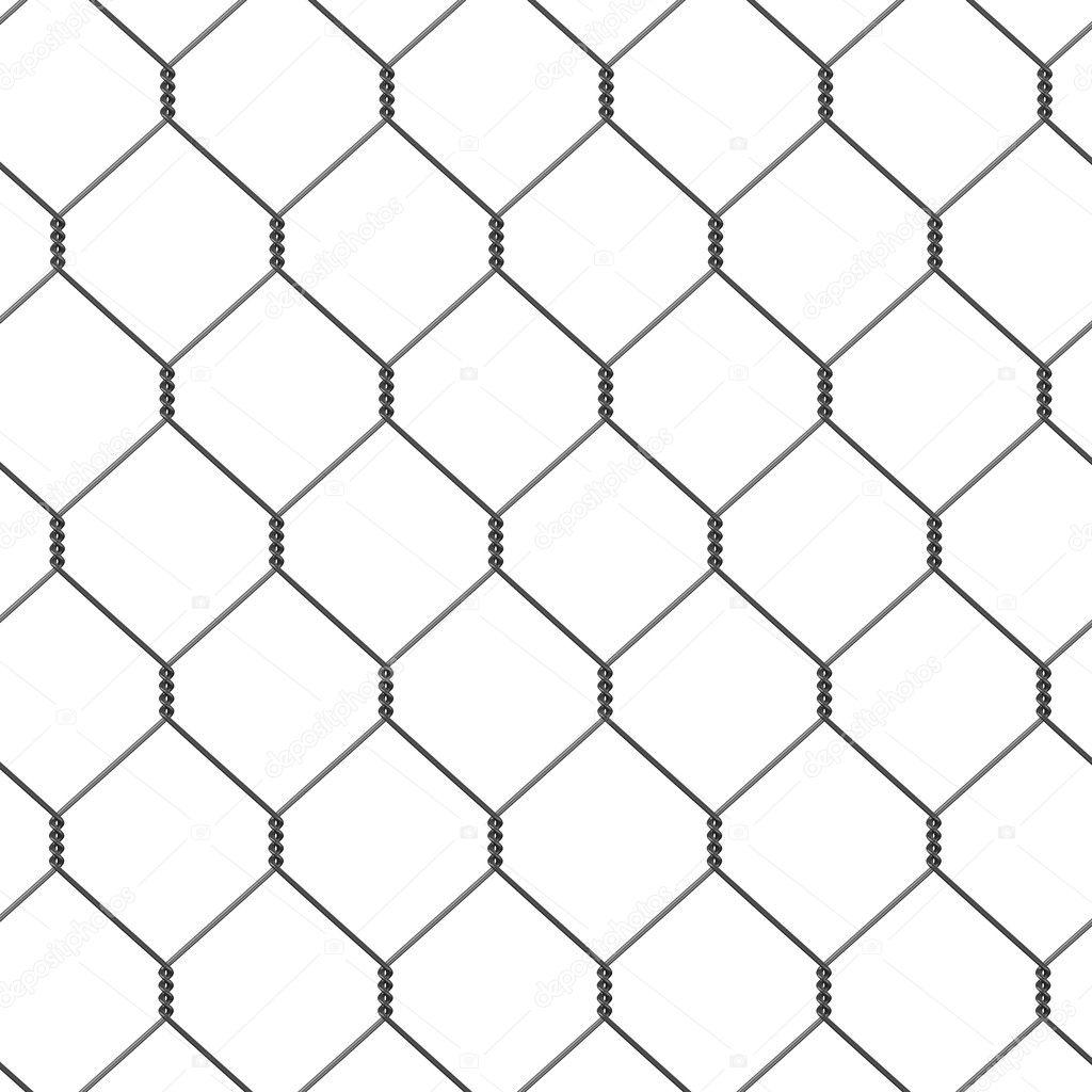 render 3D de la valla de alambre Fotos de Stock 3drenderings