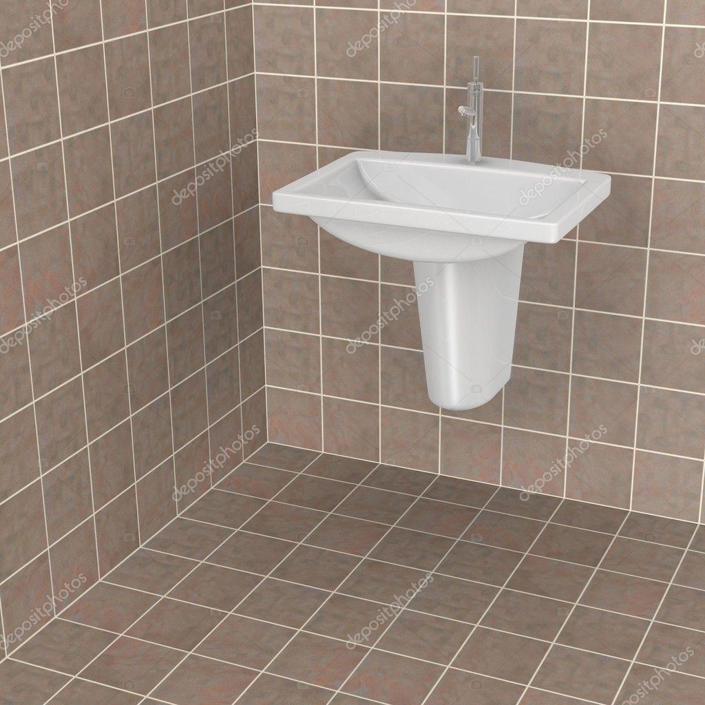 3d Renderowania Płytki łazienkowe Zdjęcie Stockowe 3drenderings