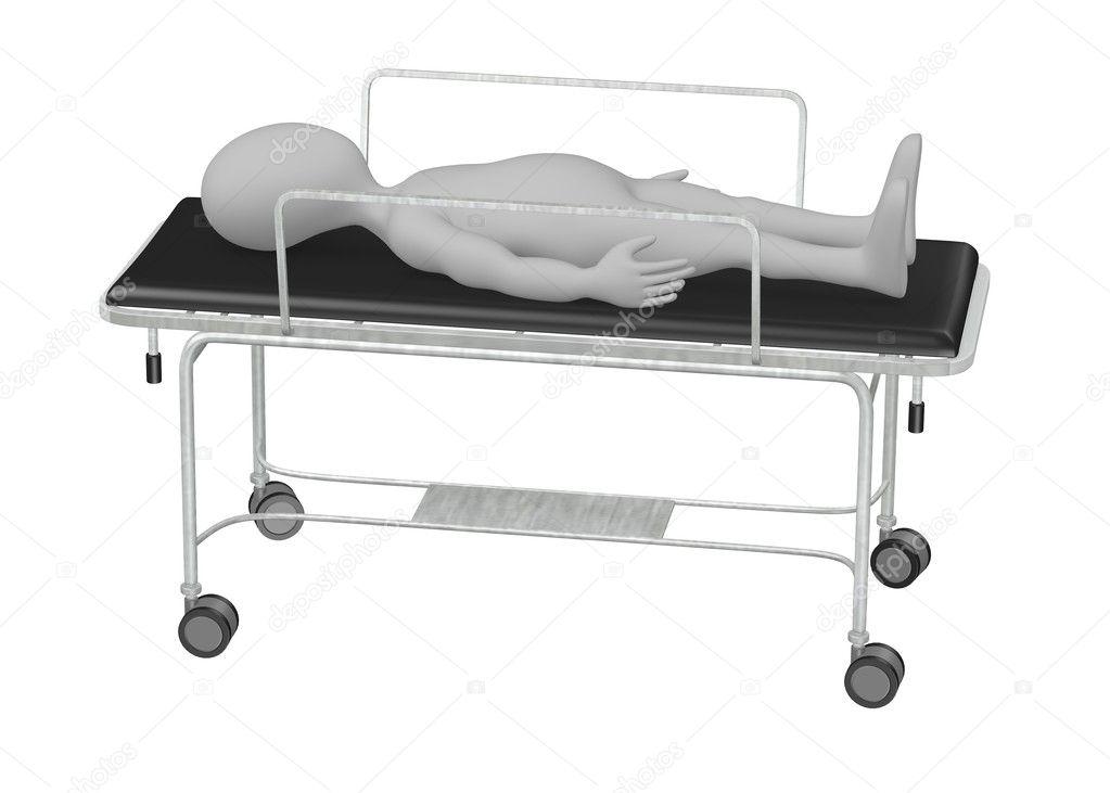 3d Render Of Cartoon Character On Hospital Bed U2014 Photo By 3drenderings