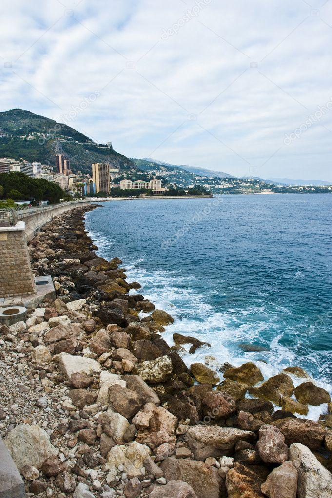 Cloudy Monaco Coastline