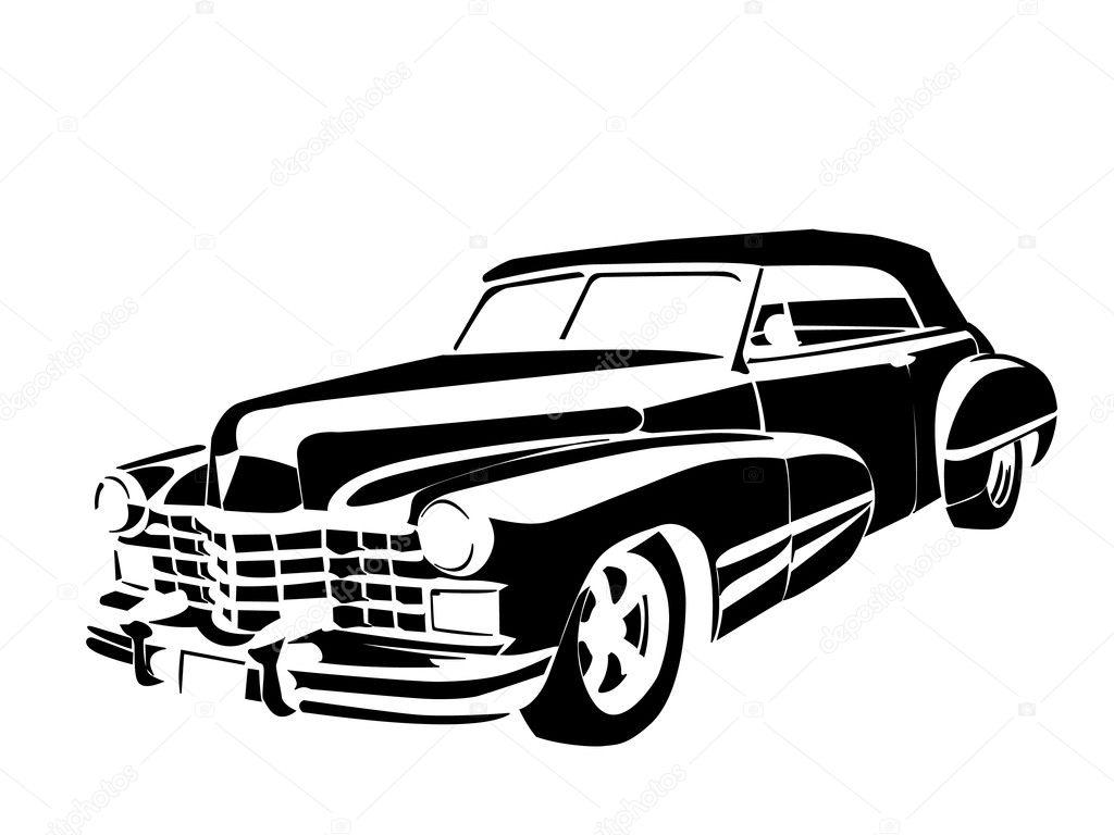 Old vintage car — Stock Vector © borzearadu #10152904