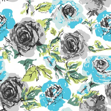 Seamless rose background wallpaper pattern