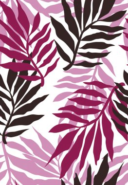 Seamless plant wallpaper pattern