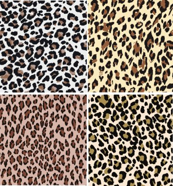 Seamless fashion animal skin textile